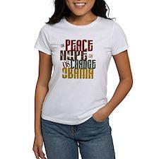 Peace Hope Change Obama 1 Tee