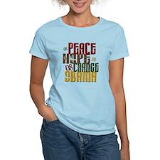 Peace Hope Change Obama 1 T-Shirt