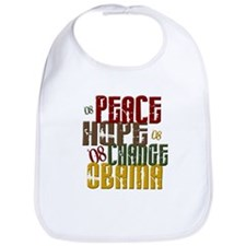 Peace Hope Change Obama 1 Bib