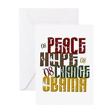 Peace Hope Change Obama 1 Greeting Card