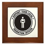 Support Probation Officer Framed Tile
