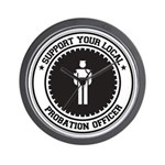 Support Probation Officer Wall Clock