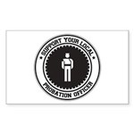 Support Probation Officer Rectangle Sticker 50 pk