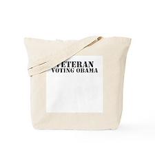 Veteran Voting Obama Tote Bag