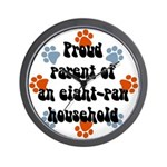 Eight-paw household Wall Clock