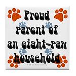 Eight-paw household Tile Coaster