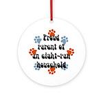 Eight-paw household Keepsake (Round)