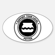 Support Potter Oval Decal