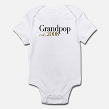 New Grandpop est 2008 Infant Bodysuit