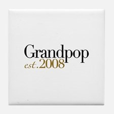 New Grandpop est 2008 Tile Coaster