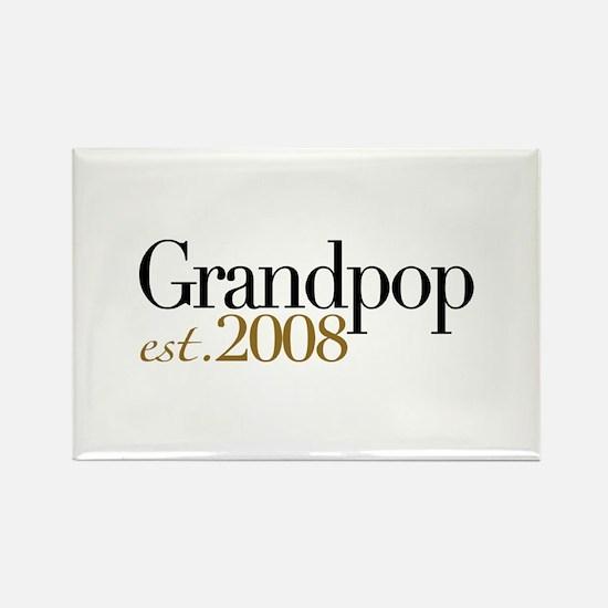 New Grandpop est 2008 Rectangle Magnet