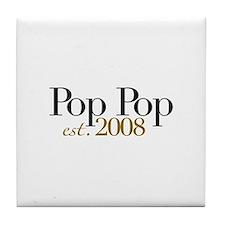 New Pop Pop est 2008 Tile Coaster