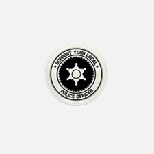 Support Police Officer Mini Button