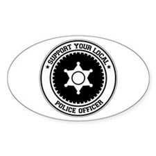 Support Police Officer Oval Decal