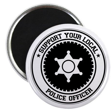 "Support Police Officer 2.25"" Magnet (100 pack)"