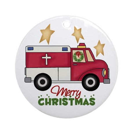 Paramedics Christmas Ornament (Round)