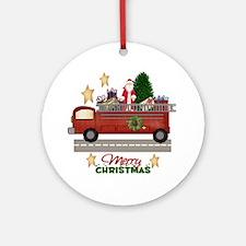 Firefighter/Fireman Christmas Ornament (Round)