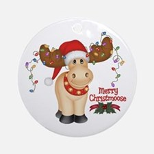Merry Christmoose Ornament (Round)