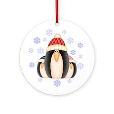 Penguin Family Ornament (Round)