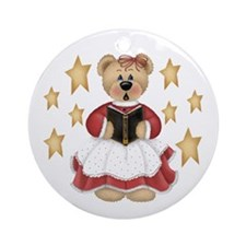 Christmas Choir Bear Ornament (Round)