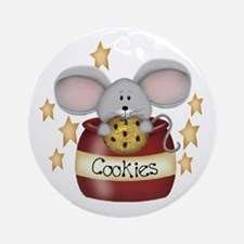 Chocolate Chip Mouse Ornament (Round)