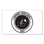 Support Poet Rectangle Sticker 10 pk)