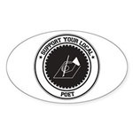 Support Poet Oval Sticker