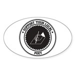 Support Poet Oval Sticker (50 pk)