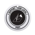 Support Poet Ornament (Round)