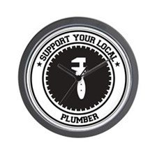 Support Plumber Wall Clock