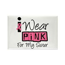 I Wear Pink Ribbon Sister Rectangle Magnet