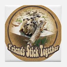Meercat Friends Tile Coaster