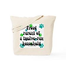 Twelve-paw household Tote Bag