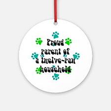 Twelve-paw household Keepsake (Round)