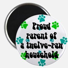 Twelve-paw household Magnet