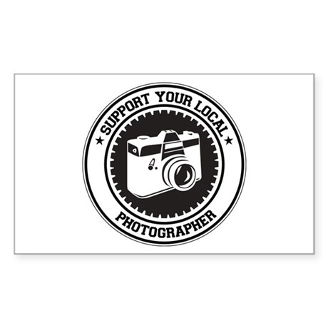 Support Photographer Rectangle Sticker