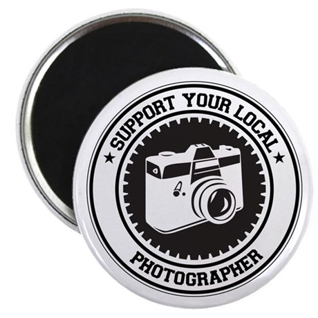 """Support Photographer 2.25"""" Magnet (100 pack)"""