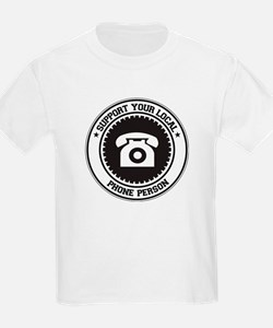 Support Phone Person T-Shirt