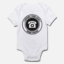 Support Phone Person Infant Bodysuit