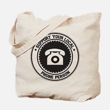 Support Phone Person Tote Bag