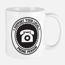 Support Phone Person Mug