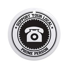 Support Phone Person Ornament (Round)
