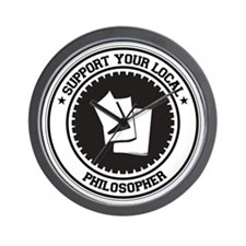 Support Philosopher Wall Clock