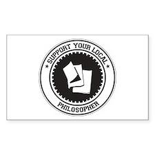 Support Philosopher Rectangle Sticker 10 pk)