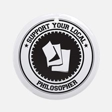 Support Philosopher Ornament (Round)