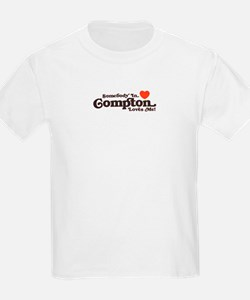 Kids T-Shirt Somebody In Compton Loves me