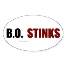 BO Stinks Oval Decal