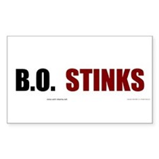 BO Stinks Rectangle Decal