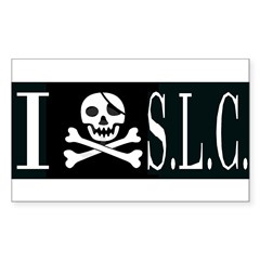I Hate S.L.C. Rectangle Decal