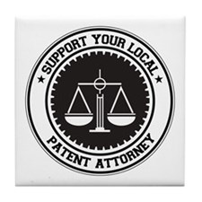 Support Patent Attorney Tile Coaster